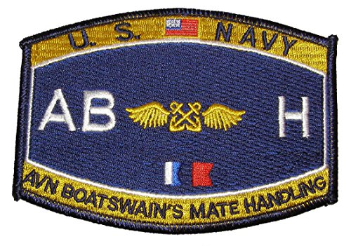 Aviation Boatswains Mate (U. S. Navy Deck Rating Aviation Boatswain's Mate Handling MOS ABH Patch - Veteran Owned Business)