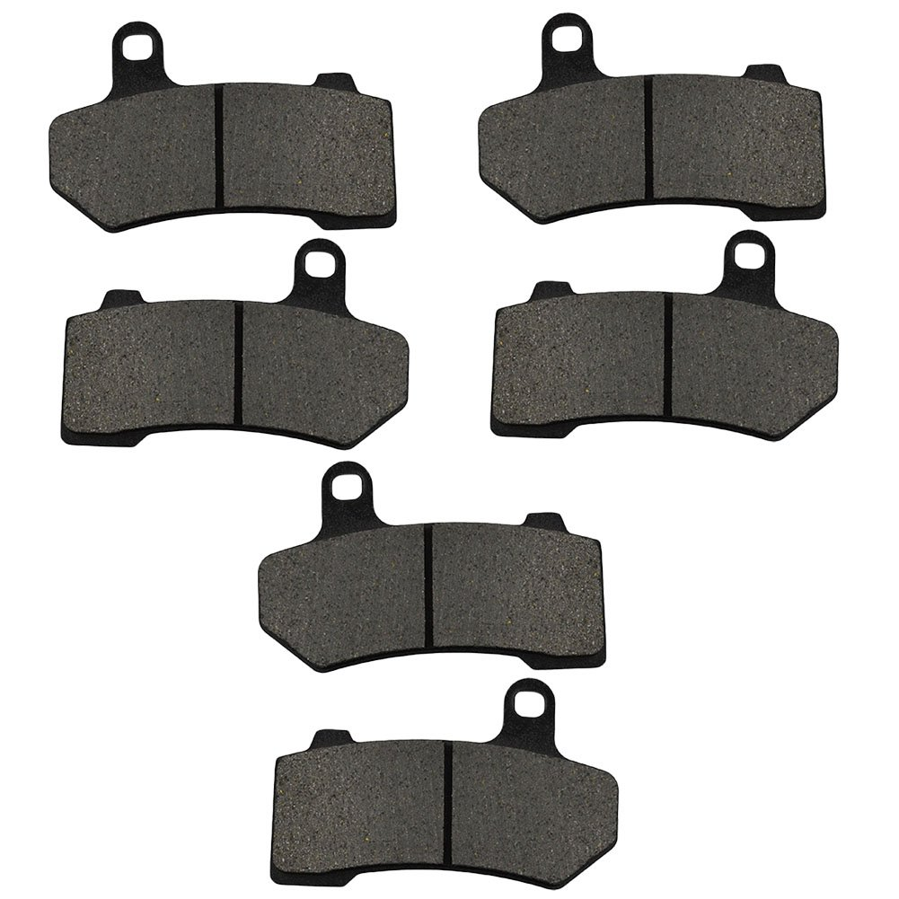 AHL Semi-metallic Front & Rear Brake Pads Set for Touring FLHTCU Ultra Classic Electra Glide 2008-2015