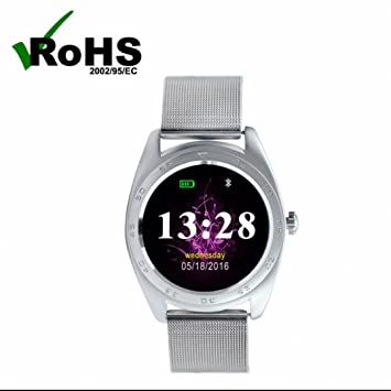 Podómetro Pulsera Fitness Bluetooth Pulsómetro Reloj inteligente,Sleep Rastreador,Alarma sedentaria,manos libres