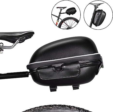 ROCKBROS Bolsa Trasera de Asiento con Portaequipajes para Bicicleta Impermeable con Liberación Rápida Cáscara Dura para Bicis MTB Bici de Carretera Bici Plegable Ebike: Amazon.es: Deportes y aire libre