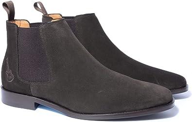 Chelsea Boots Homme en Daim Marron | Chaussures de Ville