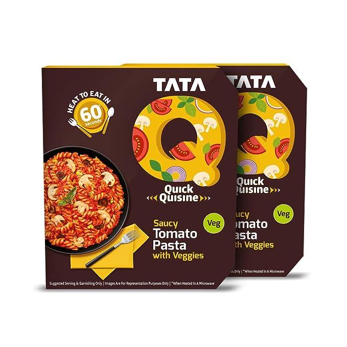Tata Q Saucy Tomato Pasta with Veggies, 2 x 290 g