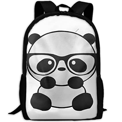 e77b64f18271 Amazon.com: JJHGJBCNL Panda Nerd Cute Sketch Animal Cool Drawstring ...