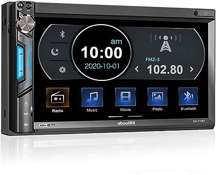 Aboutbit 2 Din Car Radio With Mirror Link For Ios Elektronik