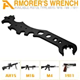 Combo Wrench for AR15 M16 M4 1911 - Multi-Function Barrel Wrench for Various Usage, Gun Wrench Spanner Wrench,Firearm Wrench, Armorers Wrench. Everyday Use as Hammer Beer Opener Muzzle Device