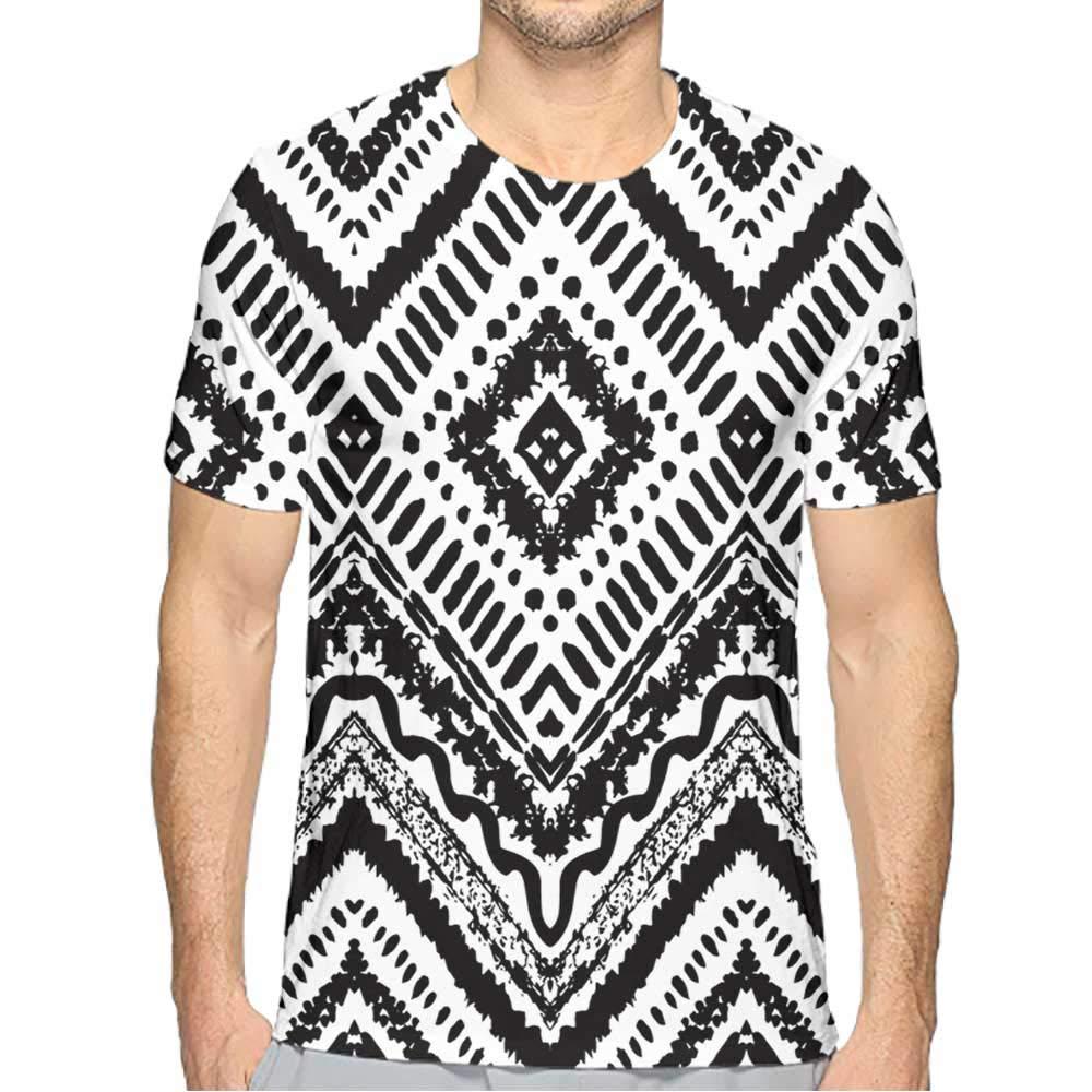 PRUNUS T-Shirt Tall Men Fashion Mens 3D Top Tees