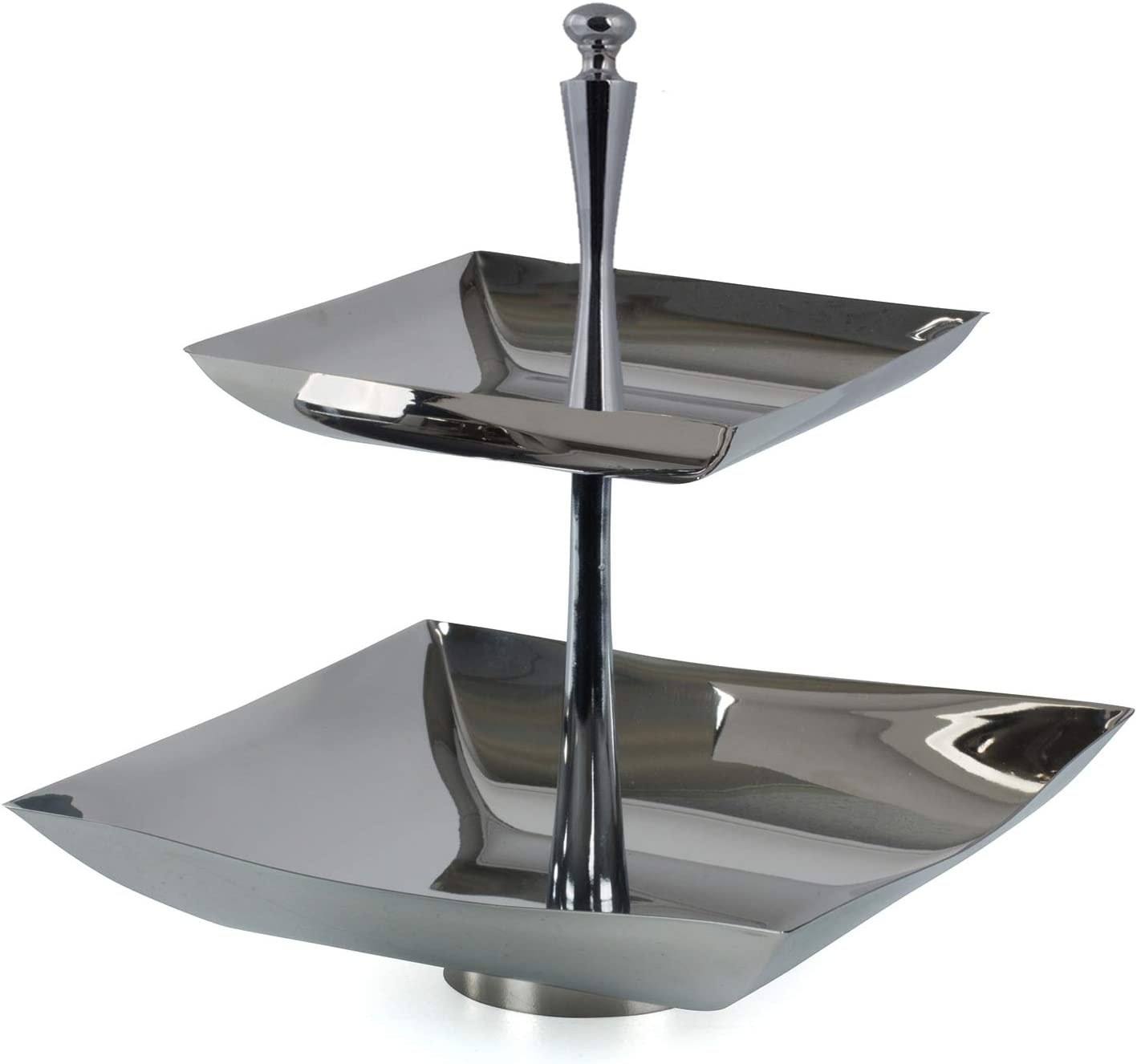 Two Tier Serving Stand Tidbit Tray