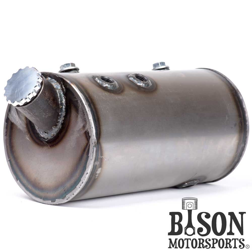 Custom 5'' Round Flat Side Oil Tank for Harley Sportsters, Bobbers or Choppers - Bison Motorsports
