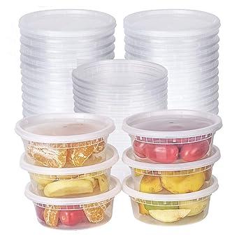 Amazon.com: Recipiente de plástico translúcido para ...