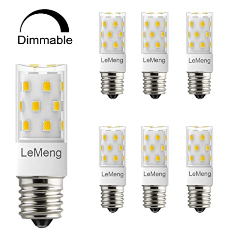 Amazon.com: LeMeng E17 Bombilla LED, intensidad regulable, 5 ...