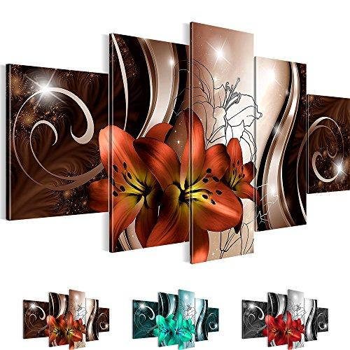 Bilder-NEUE-KOLLEKTION-Flower-Symphony-3-Farben-zur-Auswahl-XXL-Bild-auf-Vlies-Leinwand-Wandbild-Blumen-Lilien-100-MADE-IN-GERMANY-20845152