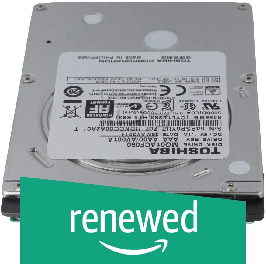 Toshiba HDKCC00 MQ01ACF050 500GB 7200RPM SATA-600 2.5 Internal Hard Drive (Renewed)