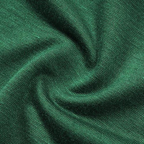 Vert de Oversize T en Longshirt KoJooin Asymtrique Blouse Mesdames Courtes Top Taille Mousseline Plus Casual Soie Casual Tunique Shirt Manches 44zPHwx