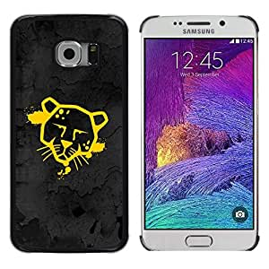 Impact Case Cover with Art Pattern Designs FOR Samsung Galaxy S6 EDGE Funny Street Art Graffiti Cougar Jaguar Betty shop