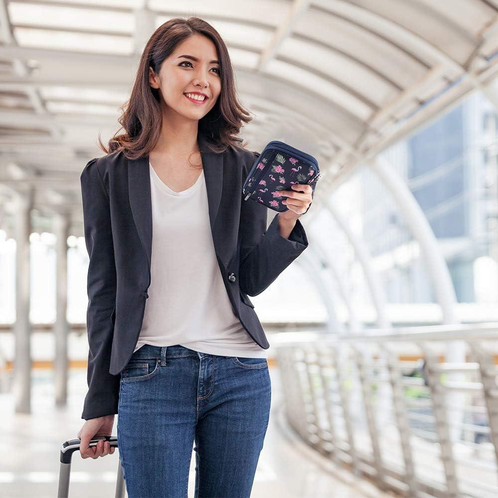 Homchen Document Organiser Case Credit Card Holders for Men and Women RFID Blocking Travel Passport Wallet Holder Large Orange-RFID