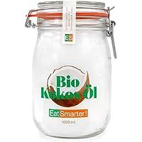 EatSmarter! Bio Kokosöl nativ kaltgepresst - 1000ml Vorratsglas - Bio Kokosfett, Kokosnussöl