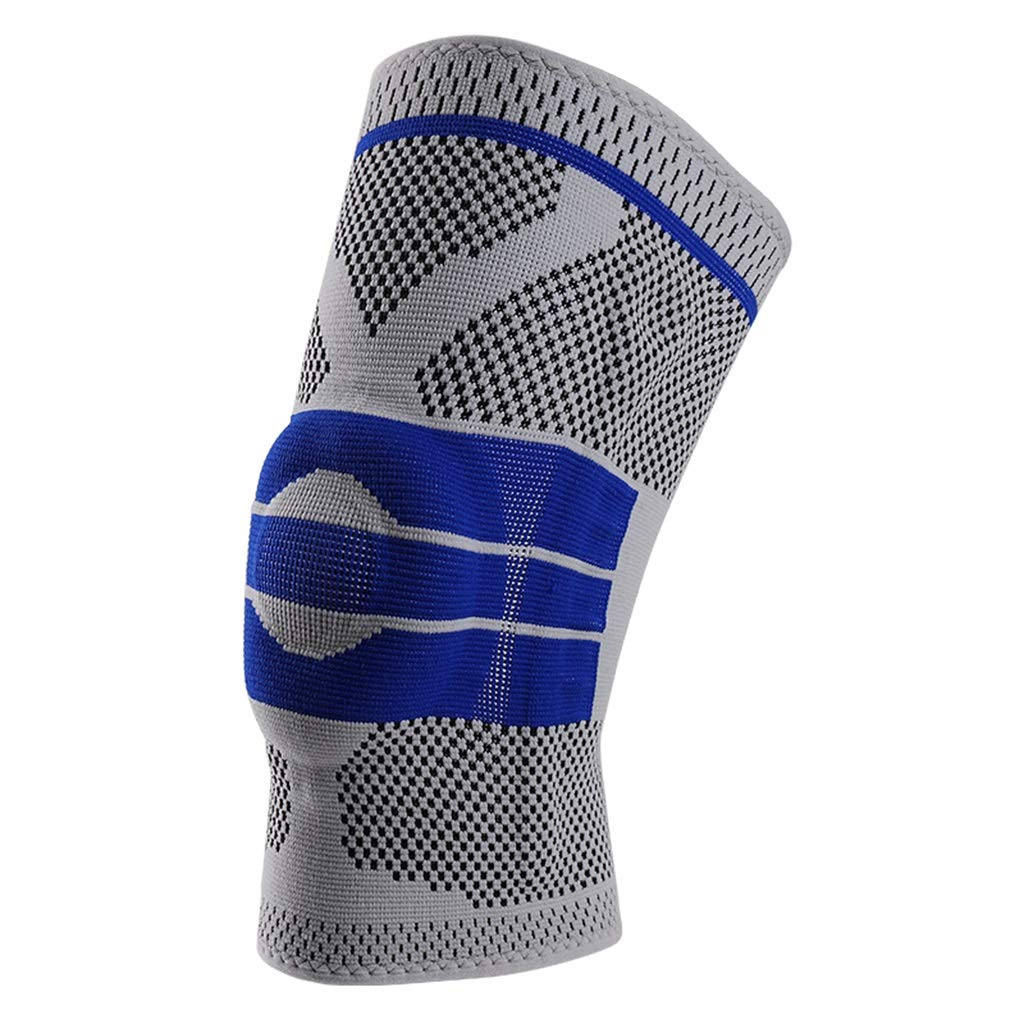 HQCC Men and Women Running Basketball Badminton Anti-Collision Knee XL Suitable for Legs 48-54cm (Color : Gray, Size : M)