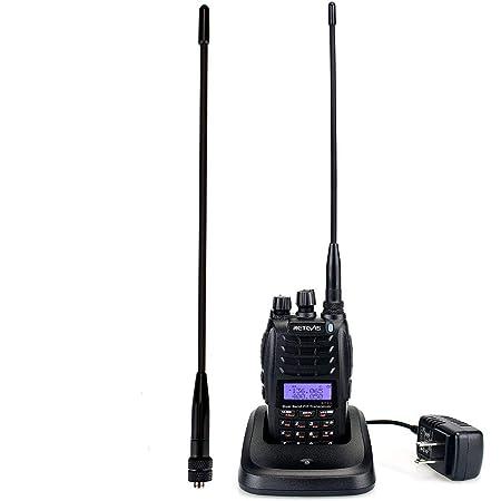 Retevis RT23 2 Way Radio Long Range Dual Band FM Dual PTT Dual Receive walkie talkies with Cross-Band Repeater 128 CH UHF VHF Ham Amateur Radio 1 Pack