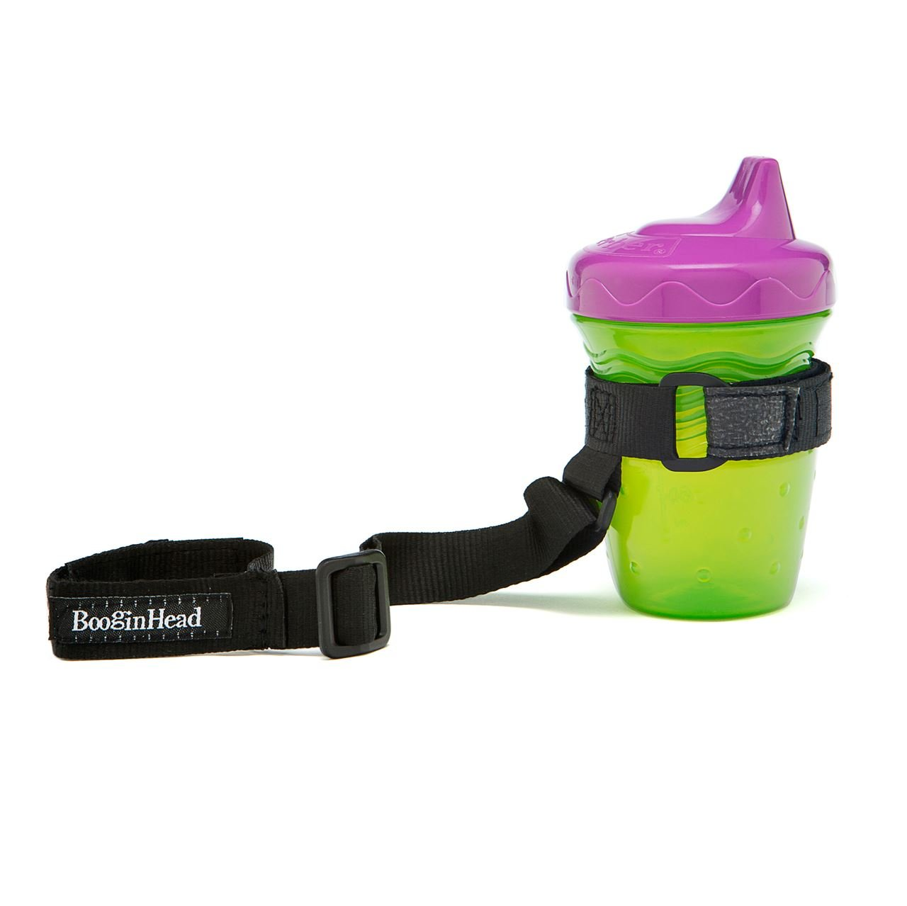 BooginHead BooginHead - SippiGrip Sippy Cup and Bottle Holder, High Chair and Car Seat Universal Attachment Strap - Black