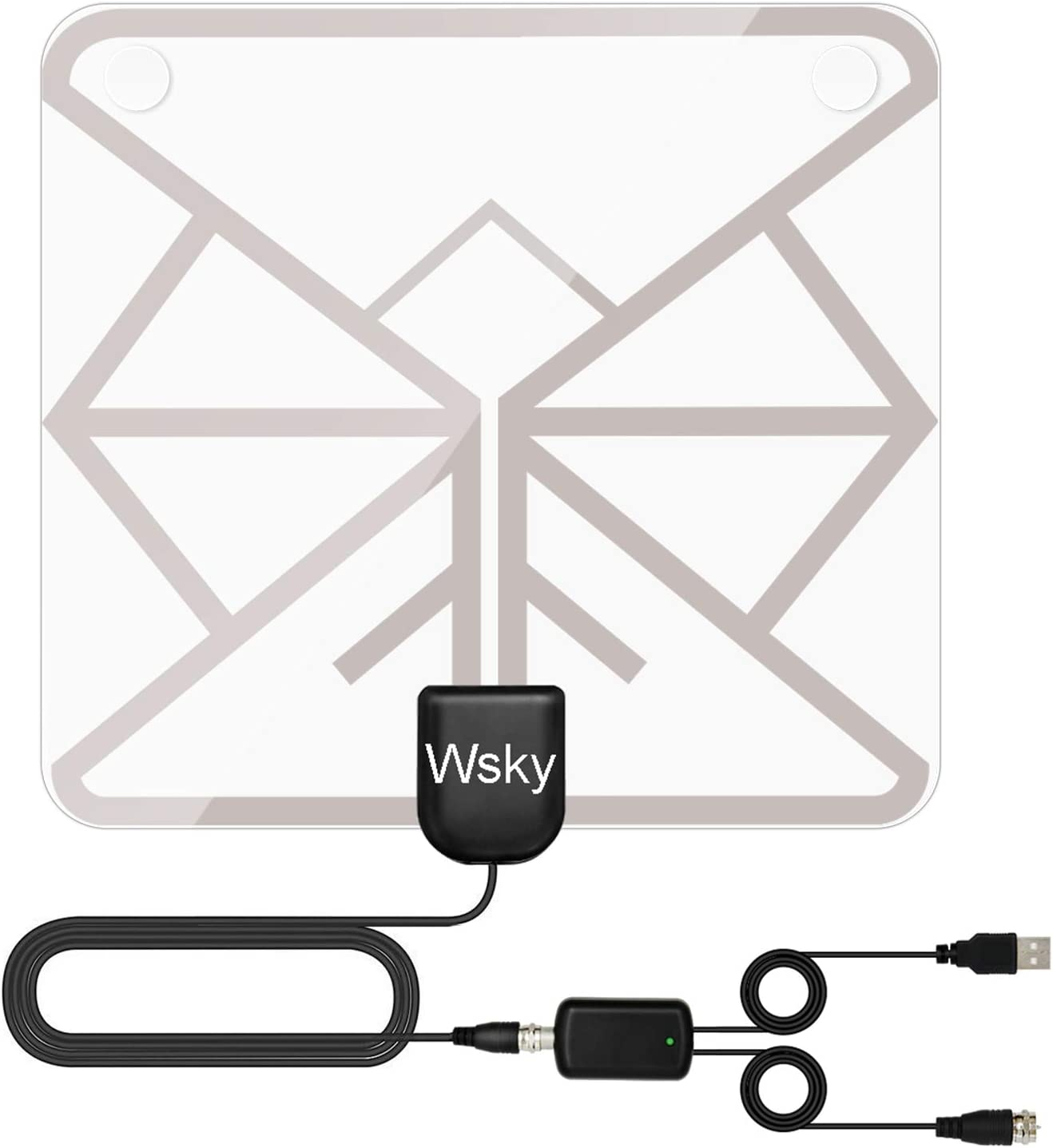 Indoor HDTV Antenna with VHF/UHF Signal Booster Amplifier 100 ...
