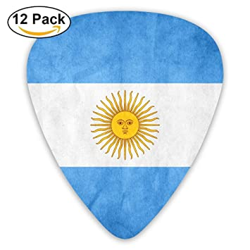 LJBpix Bandera de Argentina Clásico Púas de Guitarra (12 unidades) para guitarra eléctrica, guitarra acústica, mandolina, ...