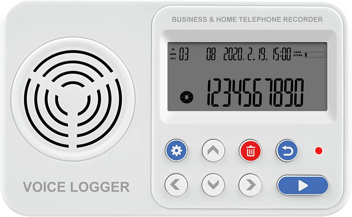 Micronic DTR1 Digital Telephone Recorder Line Voltage /& Voice Activated Call Logger 8GB-128GB SD Card