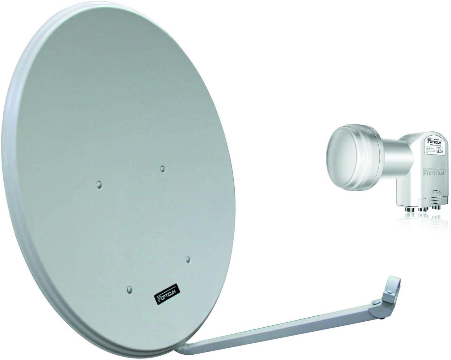 Opticum LH80 Sat Antena de Aluminio, Color: Gris Claro con ...