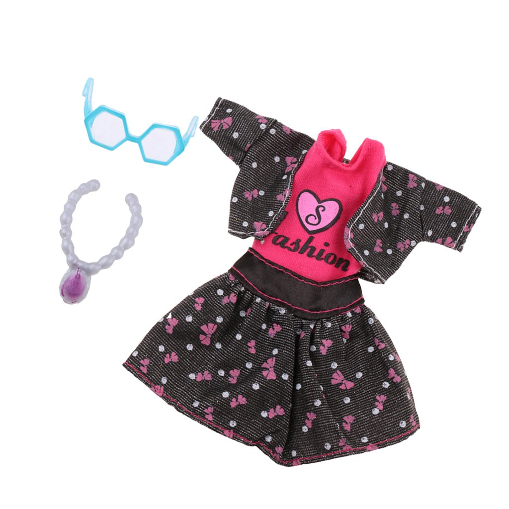 Amazon.es: Set de 5pcs Chaleco + Chaqueta + Falda + Collar ...