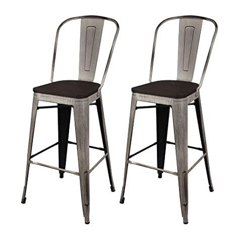 Pleasant Amazon Com Gia High Back Armless Bar Chair With Wooden Theyellowbook Wood Chair Design Ideas Theyellowbookinfo