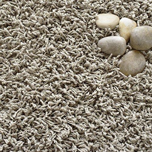ICustomRug Affordable Shaggy Rug Dixie Cozy & Soft Kids Shag Area Rug Solid Color Grey, For Children's Play Area, Bedroom or Nursery Carpet 2 Feet x 8 Feet (2' x 8')
