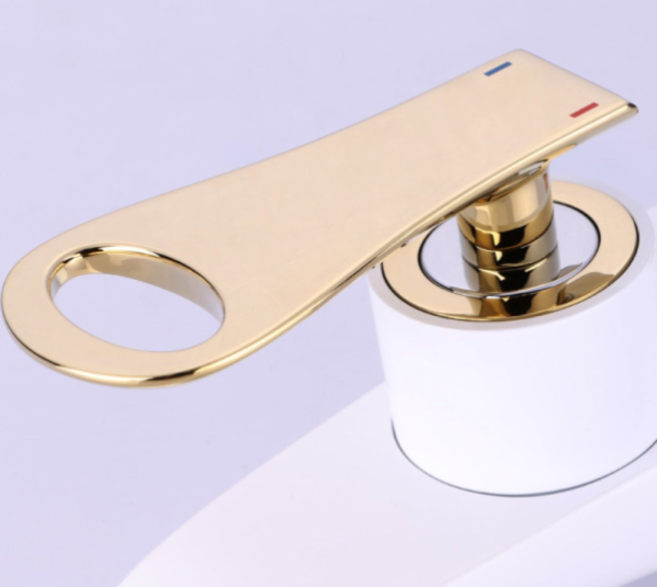 LDONGSH Creative Design Faucet Home Hotel Personality Washbasin Copper Hot And Cold High Style Faucet Bathroom Simple,White by LDONGSH (Image #3)
