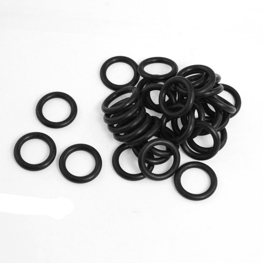 uxcell 50 Pcs 22mmx1.5mmx15mm Mechanical Black NBR O Rings Oil Seal Washers