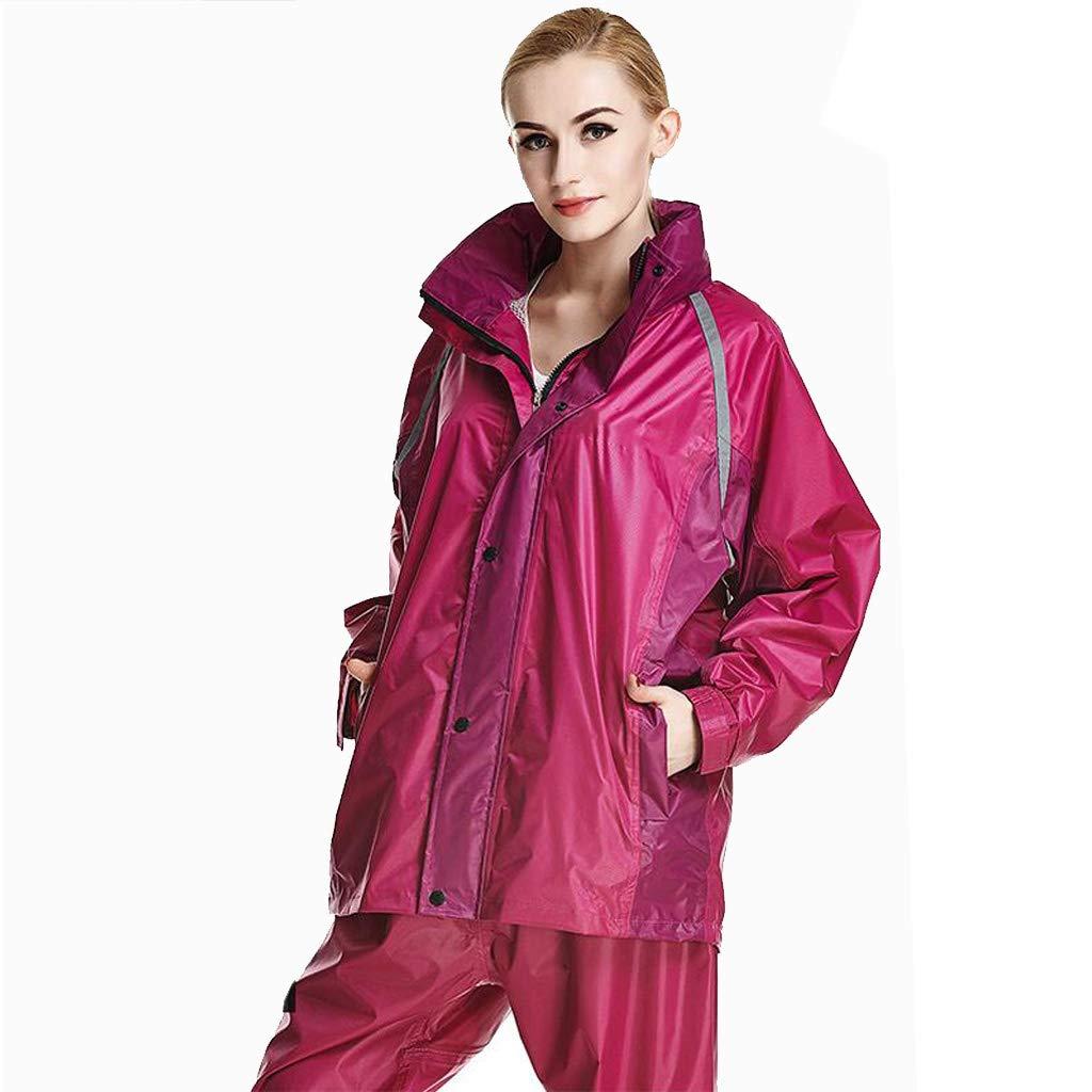 Frauen Regenbekleidung Herren Windjacke wasserdichte Regenjacke Hosenanzug Verdicken Regenmantel Erwachsene Warm für Reisen im Freien Gehen Ski Golf