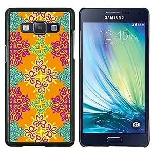 Cubierta protectora del caso de Shell Plástico || Samsung Galaxy A5 ( A5000 ) || Papel pintado floral Naranja Rosa Turquesa @XPTECH