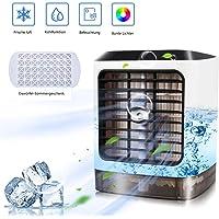 Mobil Klimagerät Air Cooler Luftbefeuchter Luftreiniger Raumluftkühler Desinfizierung mit USB Anschluß 3 Leistungsstufen Tragbare Klimaanlage für Büro Garage und Haus