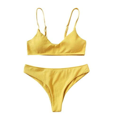 56a8580f8ab6b Amazon.com  YAliDa 2019 clearance sale Women Bikini Set Push Up Bikini  Bralette Swimwear Cheeky Bikini Bottom Swimsuit (