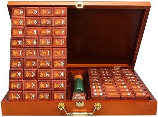 Qazxsw Regalos Mahjong, de Gama Alta Mahjong Mahjong Conjunto Recorrido al Aire Libre Juegos de Mesa de Alta Gama,Marrón,40cm: Amazon.es: Hogar