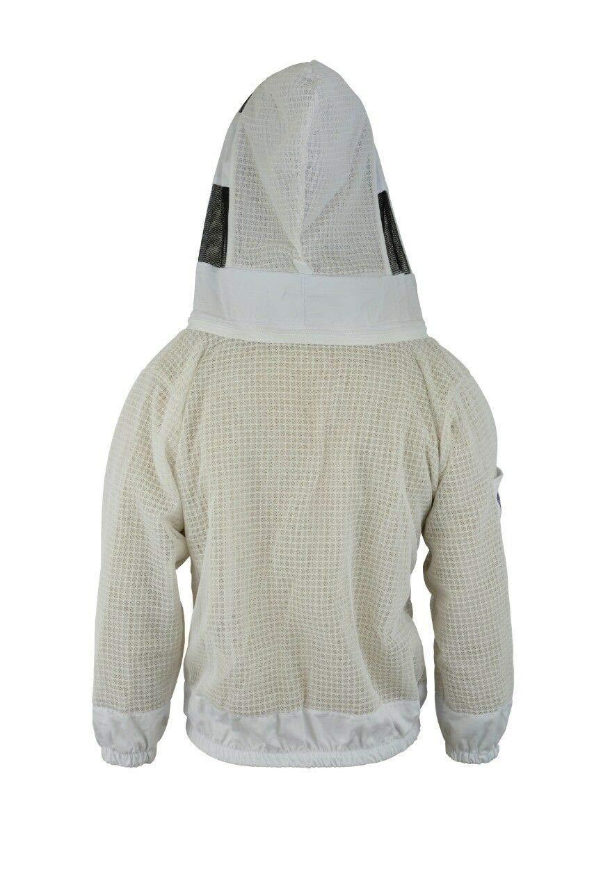 Bee Veil Bee 3 Layer Sicherheit Unisex Wei/ß Stoff Mesh Imkerei Jacke Imkerei Fechten Schleier Schutzkleidung Imkerei Kleidung Imkerei Schutzkleidung Bel/üftete Biene-L