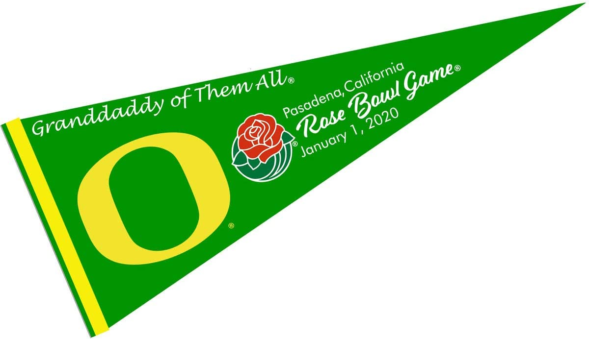 College Flags /& Banners Co Wisconsin Badgers 2020 Rose Bowl Game Pennant Flag
