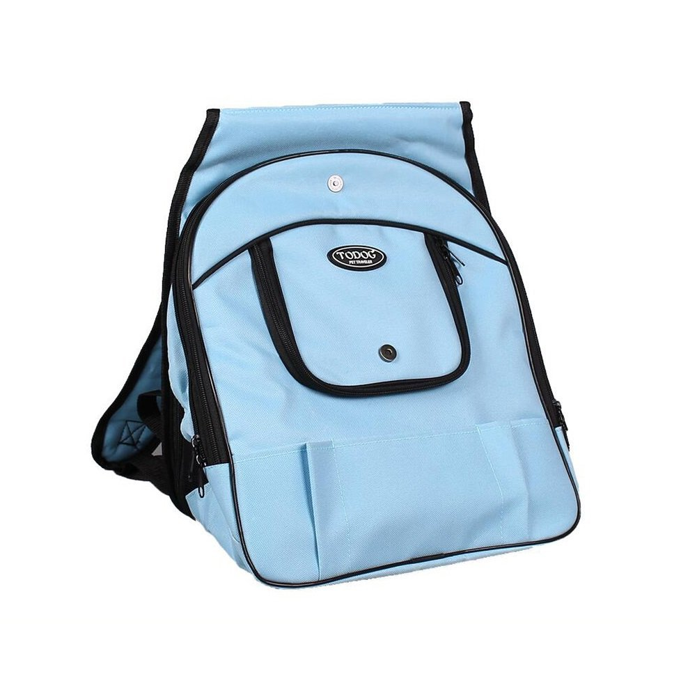 bluee DALL Carriers—— FS-847 Windproof And Dampproof Cats And Dogs Pet Package Pet Carrier Travel Bags Breathable Grid Safety Buckle (color   blueE)