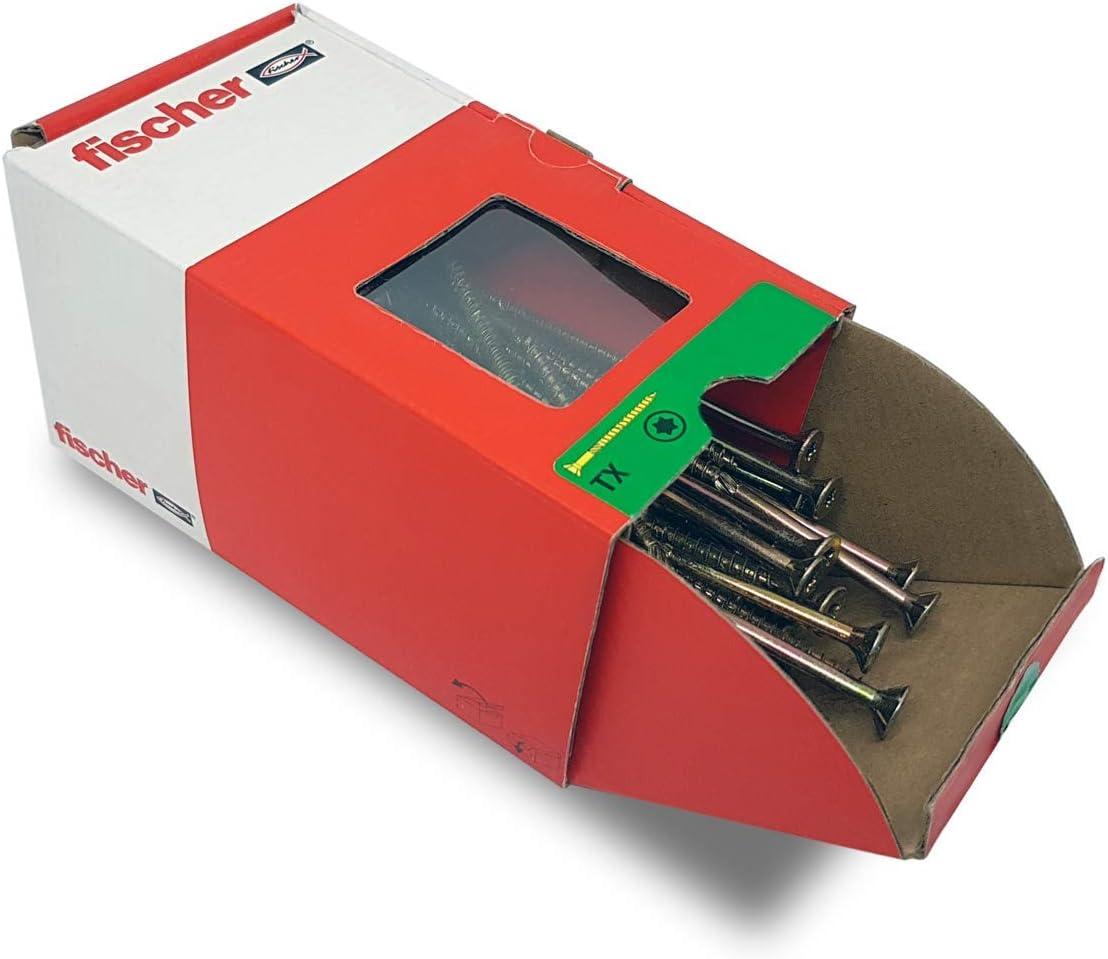 Envase de 50 ud. FISCHER 659246 Tornillo rosca aglomerado FPF-WT 8,0X120 rosca parcial YZP 50