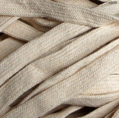 Cream Rope (Cotton Rope Cord Trim Flat Cream BRT38 - 8 mm Wide Appx 10 Meters)