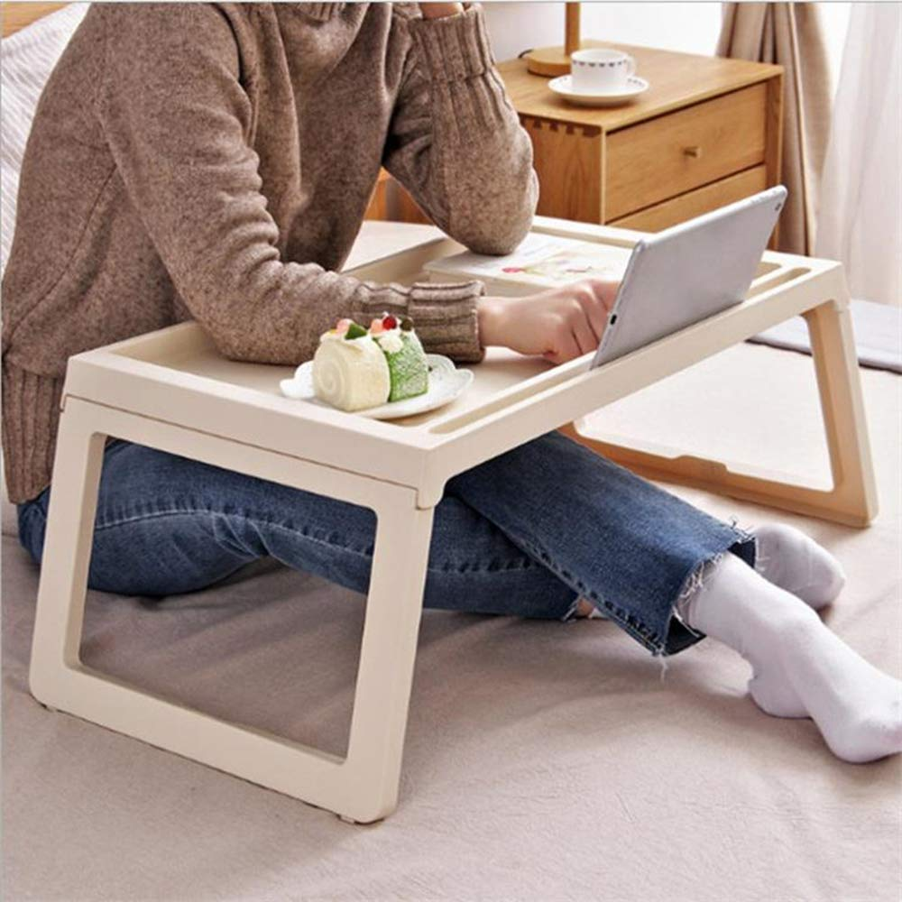 ordinateur de bureau table pliables les genoux petit d/éjeuner au lit plateau nique bureau de lecture pour canap/é /étage titulaire de carnet de pique plier en deux w un espace de stockage interne