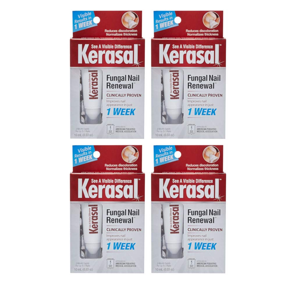 Kerasal Fungal Nail Renewal Treatment 10 ML Each (Value Pack of 4) by Kerasal