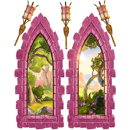 Pink Castle Window Large Wall Decal Set