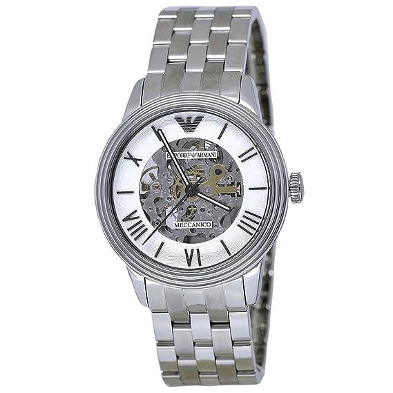 4607174c8 Emporio Armani Men's Meccanico AR4672 Silver Stainless-Steel Automatic Watch:  Emporio Armani: Amazon.ca: Watches