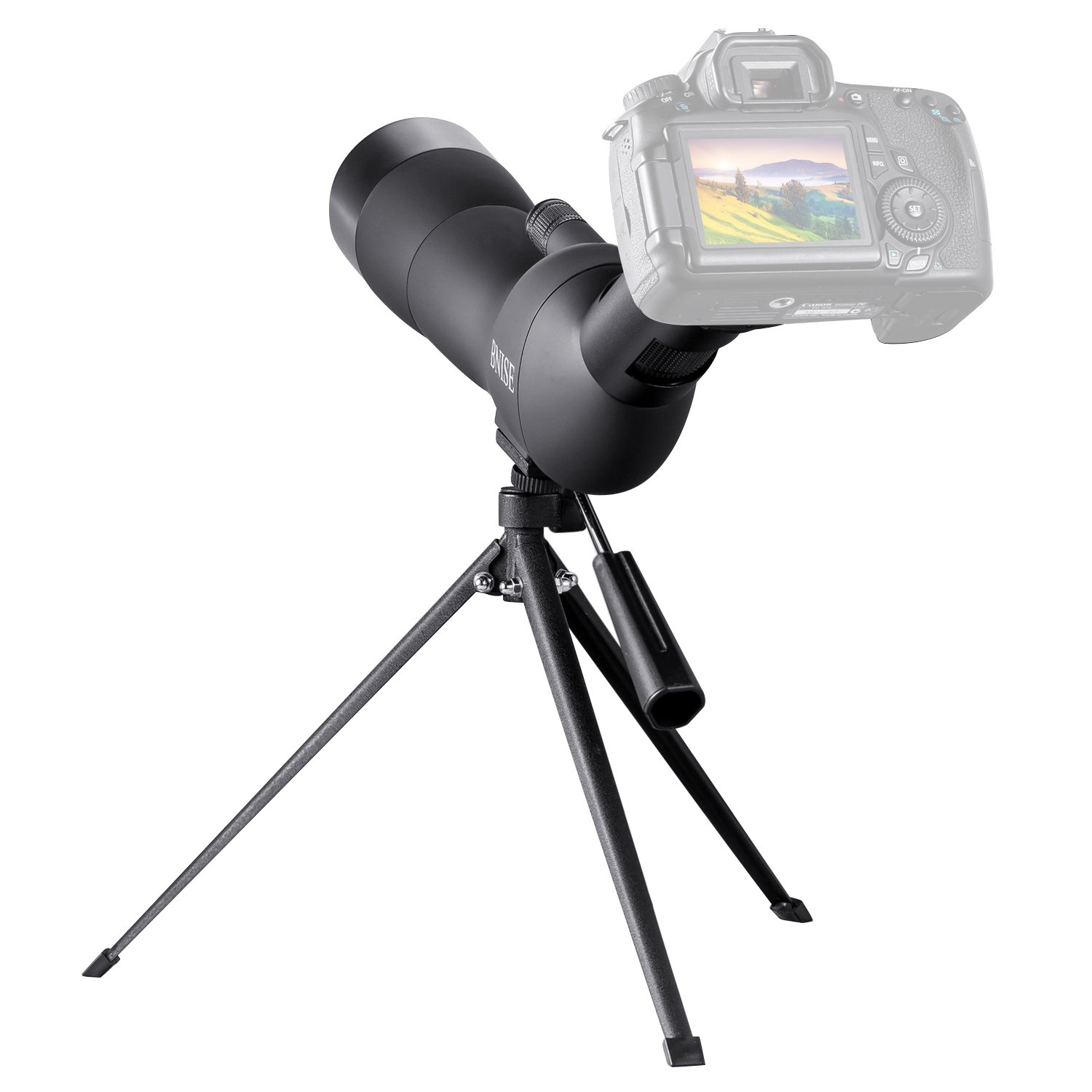 BNISE Spotting Scope for Bird Watching,60mm-wide objective Telescope, 20-60 Times Amplification, a Tripod and Photography Accessories, Suitable for Bird-watching, Hunting and Aiming, Black