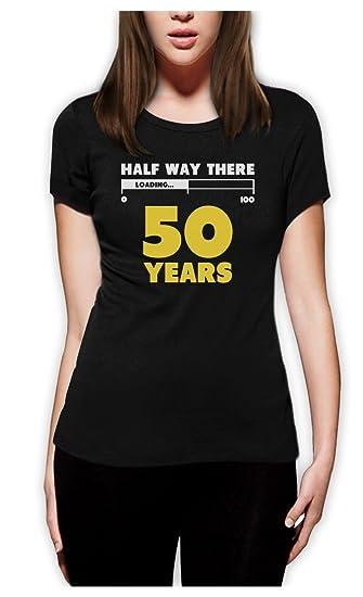 La mitad de forma no 50 años Funny para regalo de cumpleaños ...