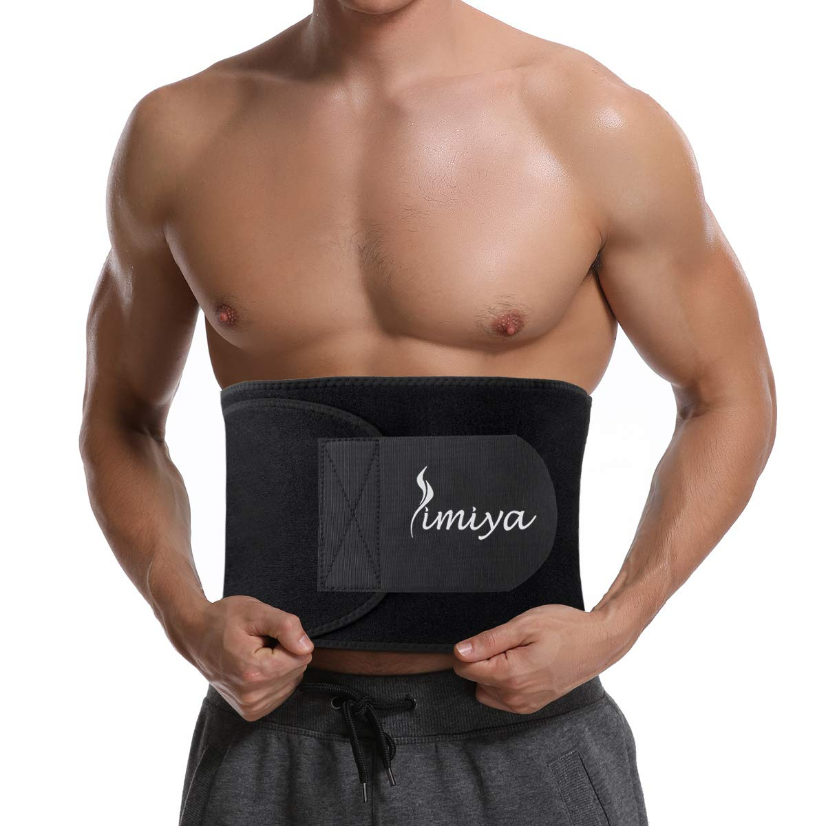 SIMIYA Waist Trimmer for Women Men, Neoprene Sauna Slim Belt, Abdominal Trainer, Stomach Wraps for Weight Loss, Low Back and Lumbar Support, Adjustable Stomach Belly Fat Burner Wrap