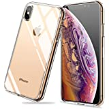 Meidom iPhone Xs Case with Air Cushion Technology and Anti Fall,Full Protective Glass Cover Case for iPhone Xs-Glass Clear